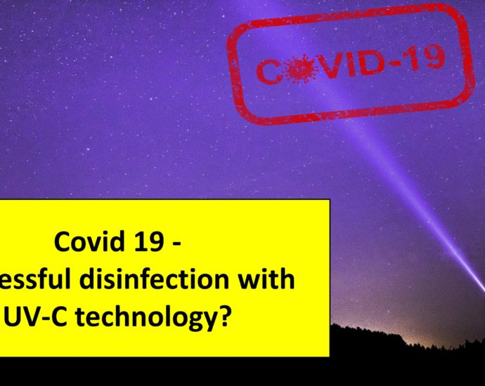 Covid 19 - successful disinfection with UVC technology