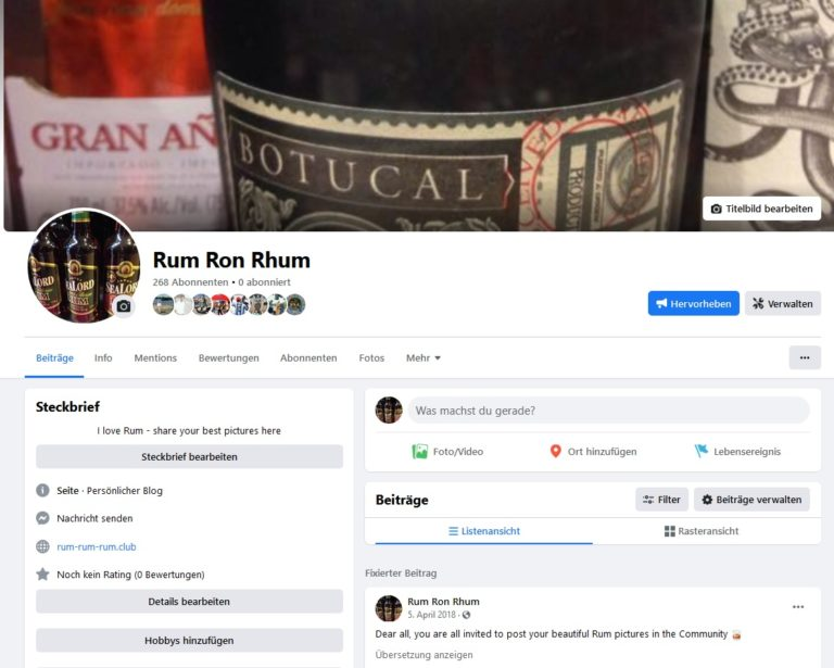 Facebook-Rum-Page to increase the conversion rate