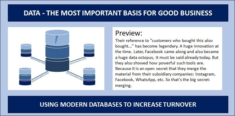 Modern Data Base ananyltics - better revenue for your business