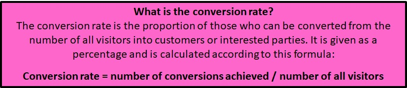 What is the conversion rate and how to calculate it