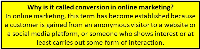 Why conversion became a term in online marketing