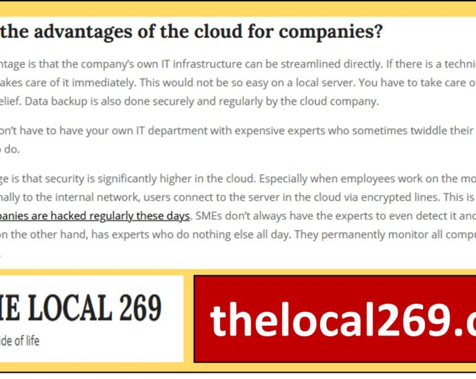 the advantages of cloud computing for small companies